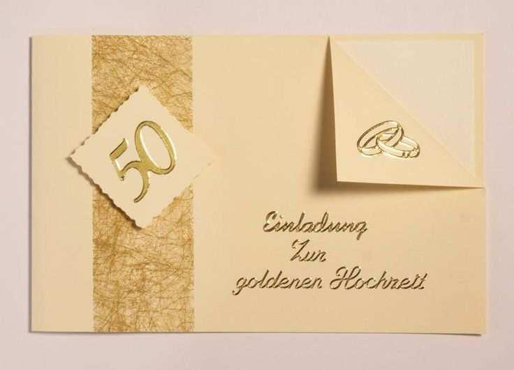 Einladung Goldene Hochzeit Einladung Goldene Hochzeit