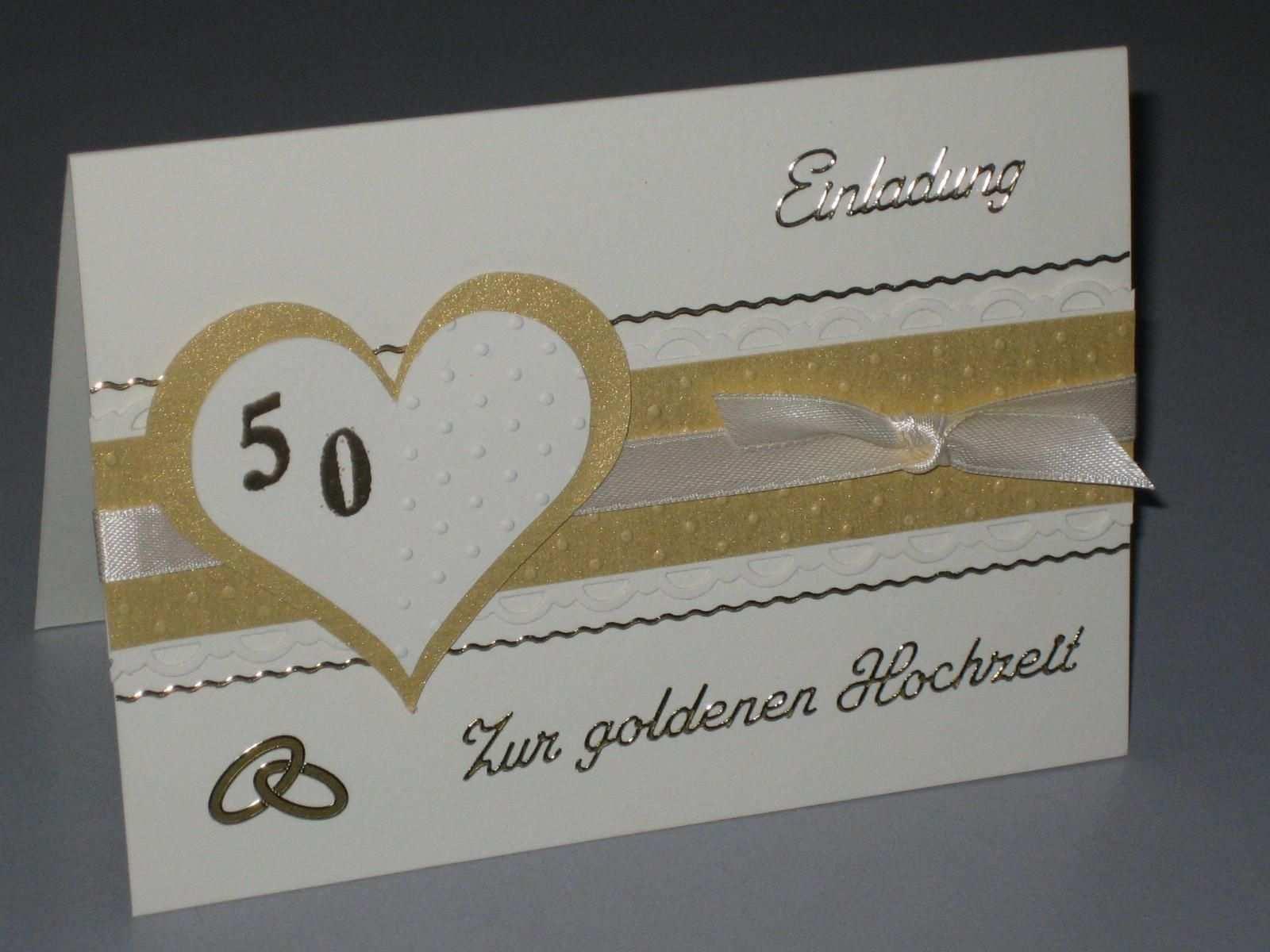 Goldene Hochzeit Kostenlos Einladung Goldene Hochzeit