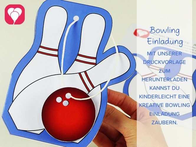 Bowling Birthday Set Basic Einladung Kindergeburtstag