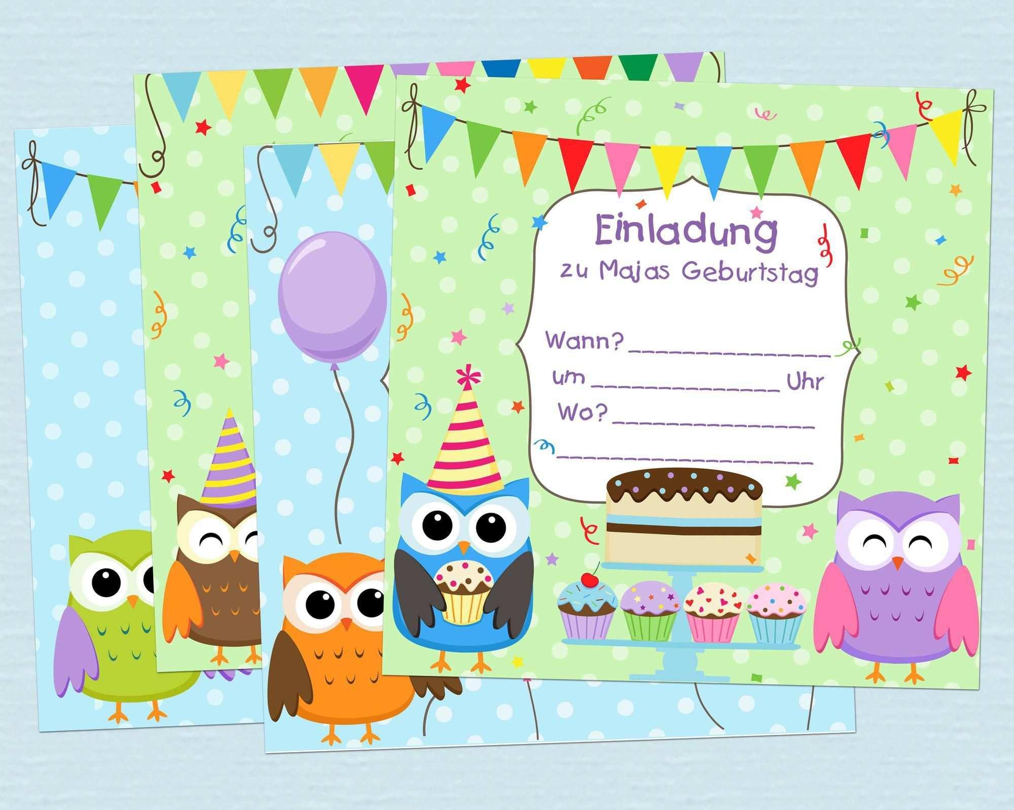 Geburtstagseinladungen Kostenlos Di 2020 Templat Undangan