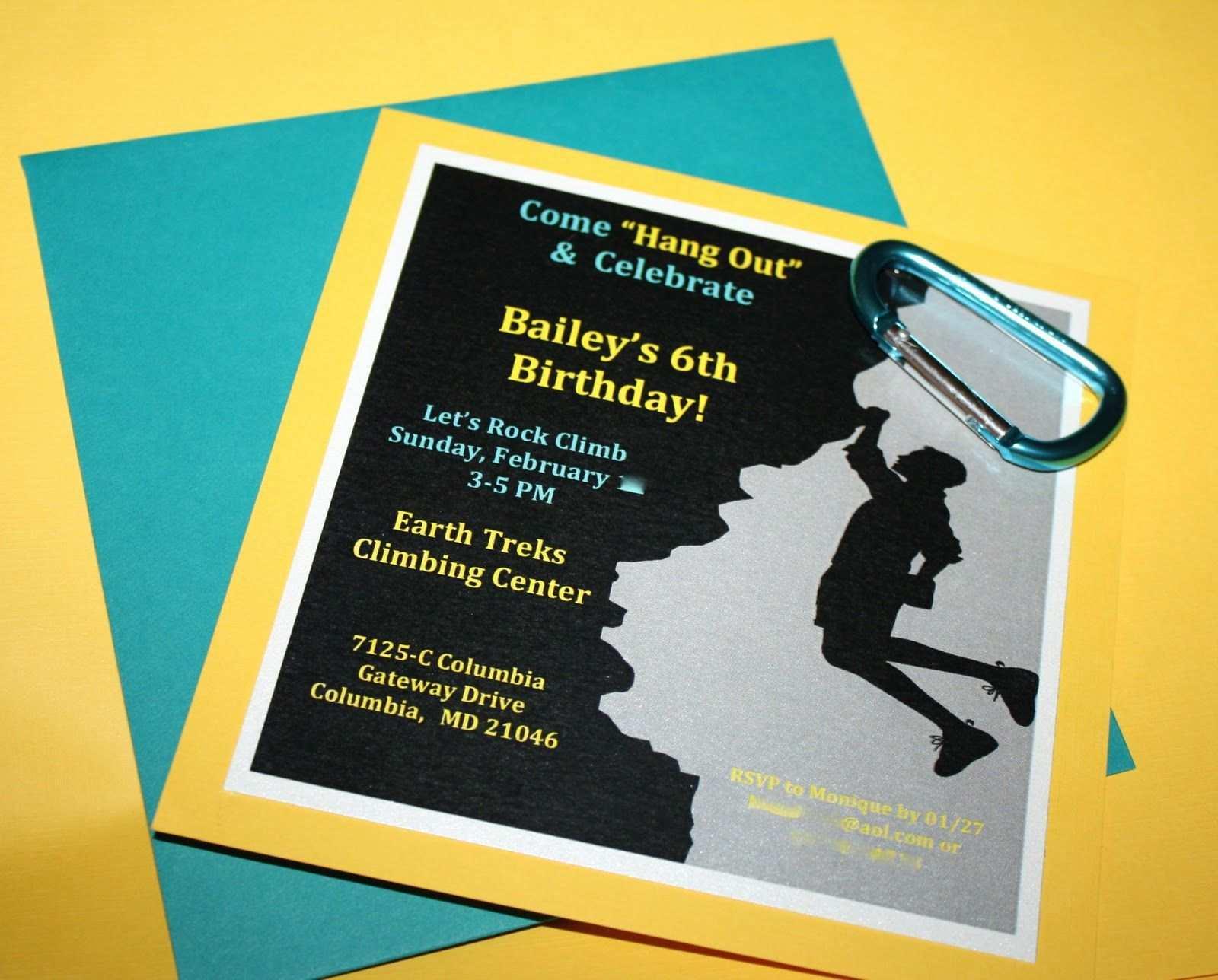 Einladung Kindergeburtstag Klettern Vorlage Einladung