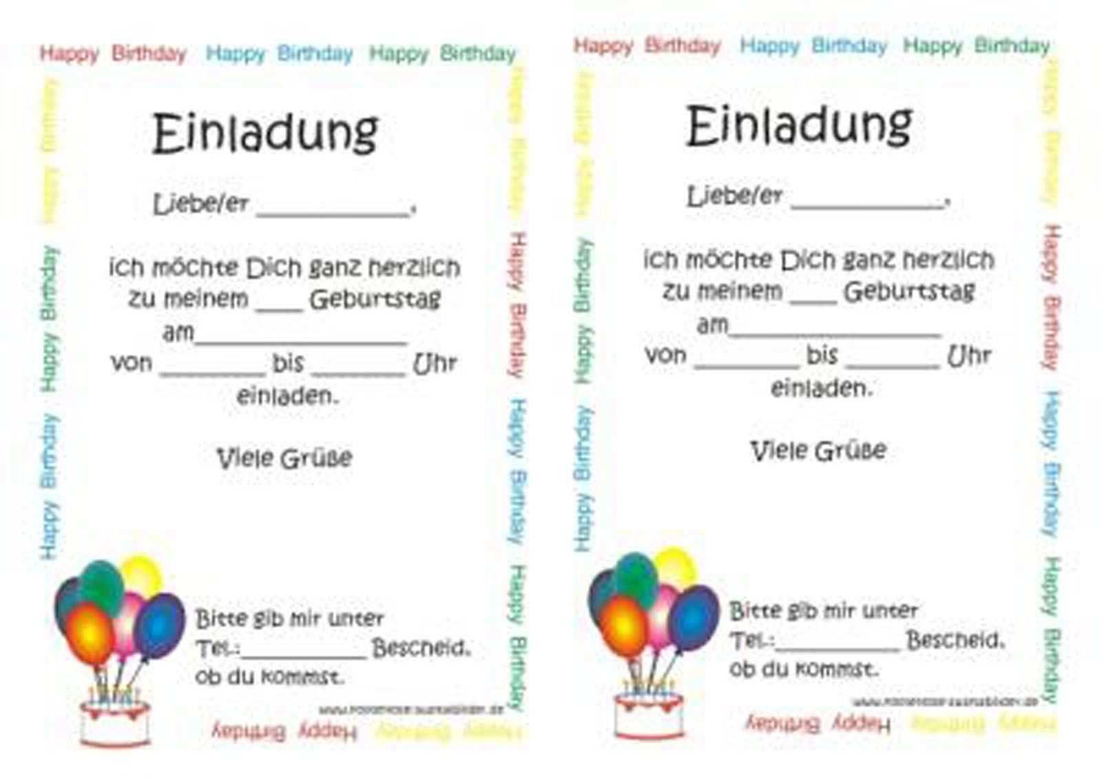 Einladungskarten Kindergeburtstag Selber Basteln Vorlagen Bit