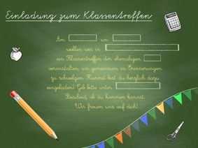 20 Klassentreffen Einladungen Auch Zum Download Und Drucken Mit