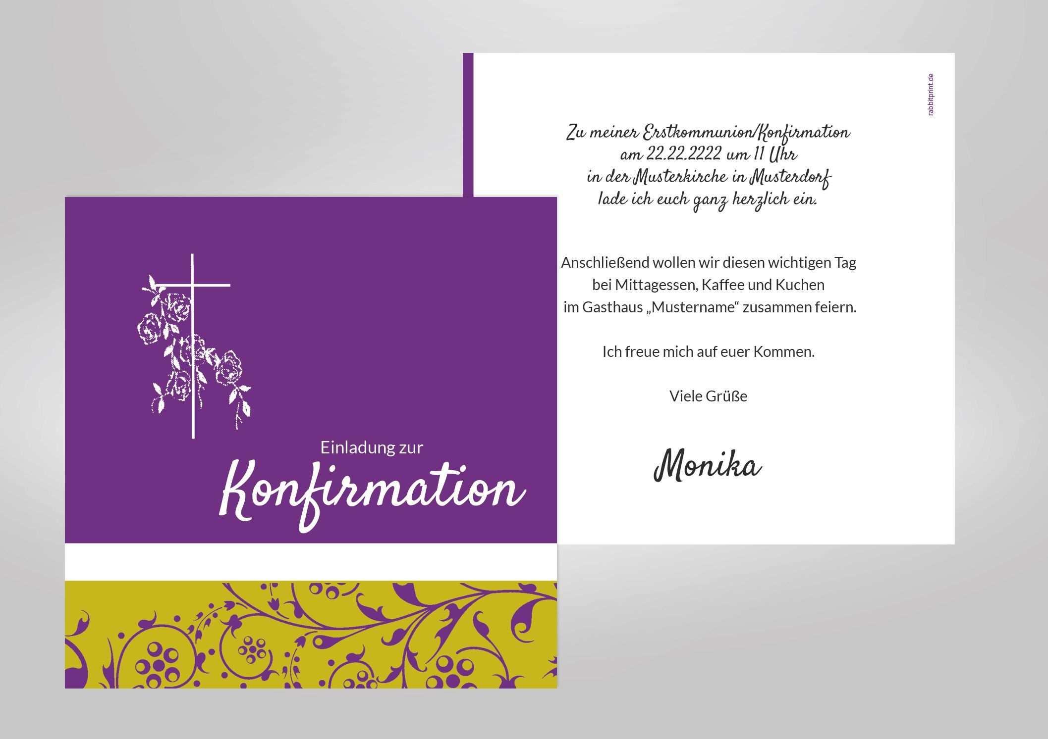 Einladungskarten Konfirmation Vorlagen Geburtstagseinladungen
