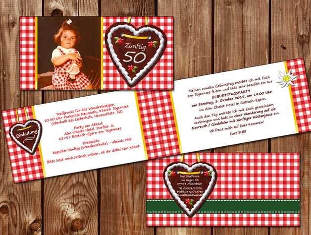 Einladungskarten Einladung Geburtstag A La Oktoberfest Ein