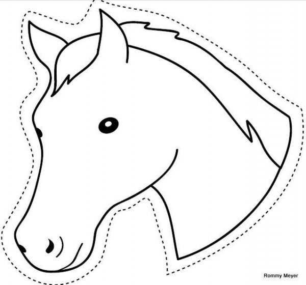 Pferde Einladung Basteln Vorlage Kindergeburtstag Basteln Pferd