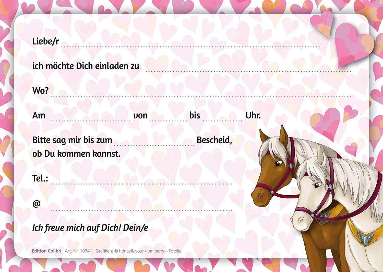 Einladungskarten Geburtstag Kostenlos Pferdeeinladung Geburtstag