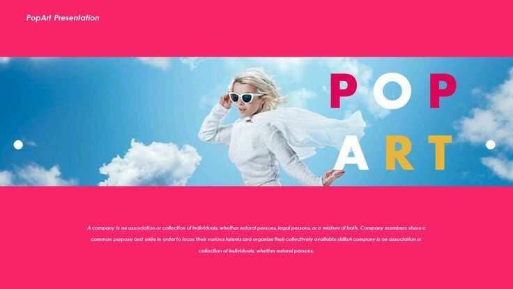 Pop Art Creative Powerpoint Vorlagen Kunst Pop Kreativ