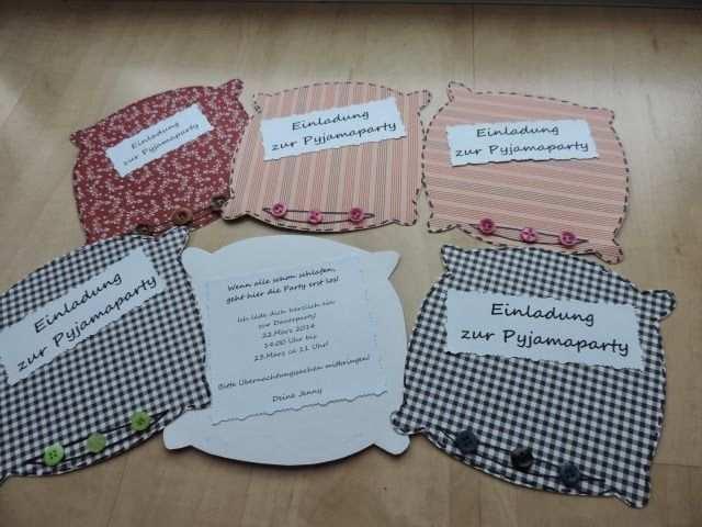 Einladungen Zur Ubernachtungsparty Einladung Pyjamaparty