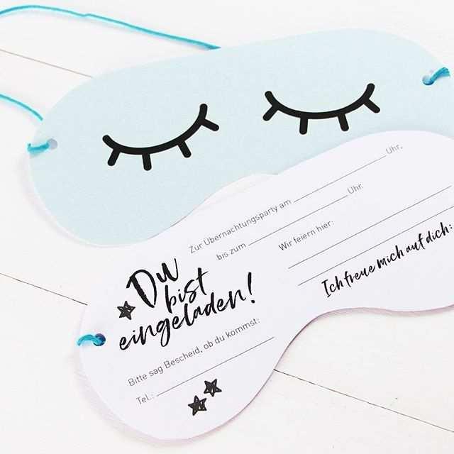 Besonders Toll Finde Ich Die Einladungskarte Schlafbrille Die