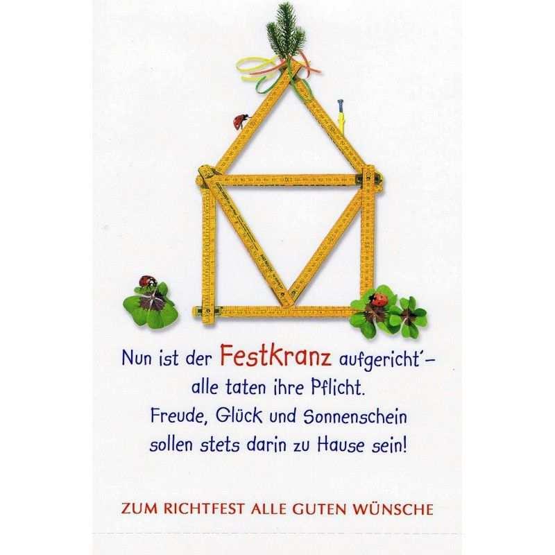 Karte Zum Richtfest Mit Spruch Jpg 800 800 Pixel Geschenke Zum