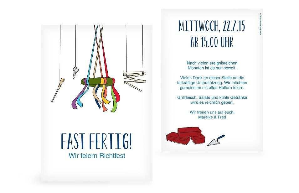 Partyeinladung Richtfest Einladung Richtfest Richtfest Party