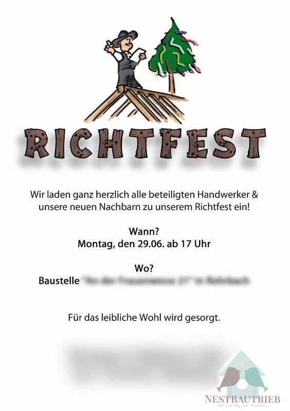 Pin Von Miriam Weins Auf Richtfest Richtfest Einladung