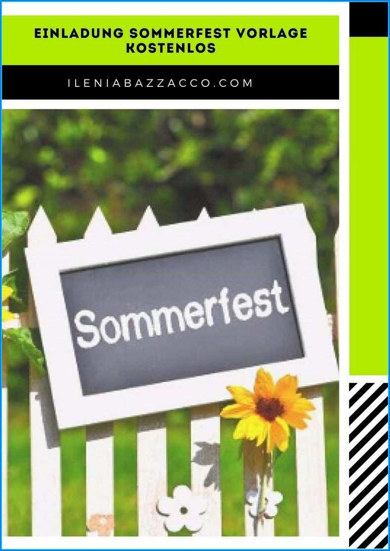 6 Einladung Sommerfest Vorlage Kostenlos In 2020 Einladung