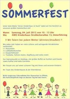 Einladung Sommerfest Kindergarten Muster Einladung Sommerfest