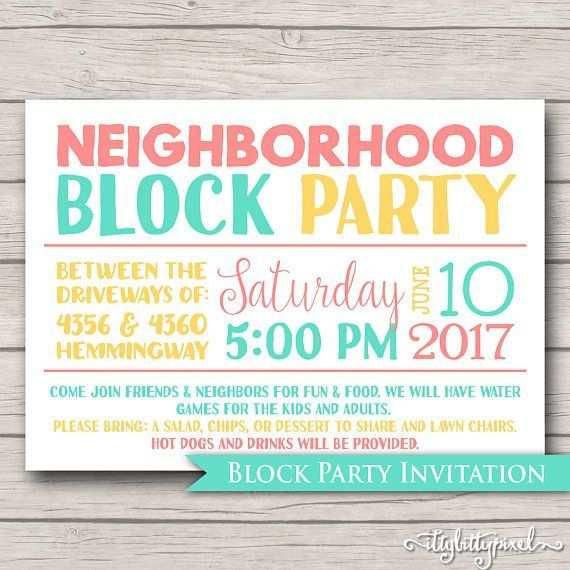 Neighborhood Block Party At The Pool Nachbarschaft Party Party