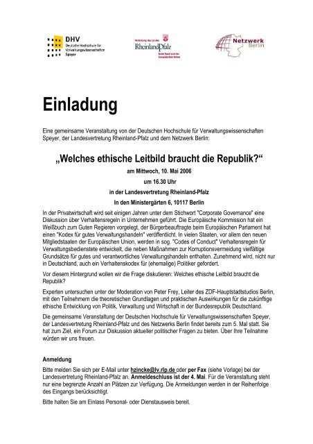 Einladung Zu Dieser Dhv Tagung Pdf Netzwerk Berlin