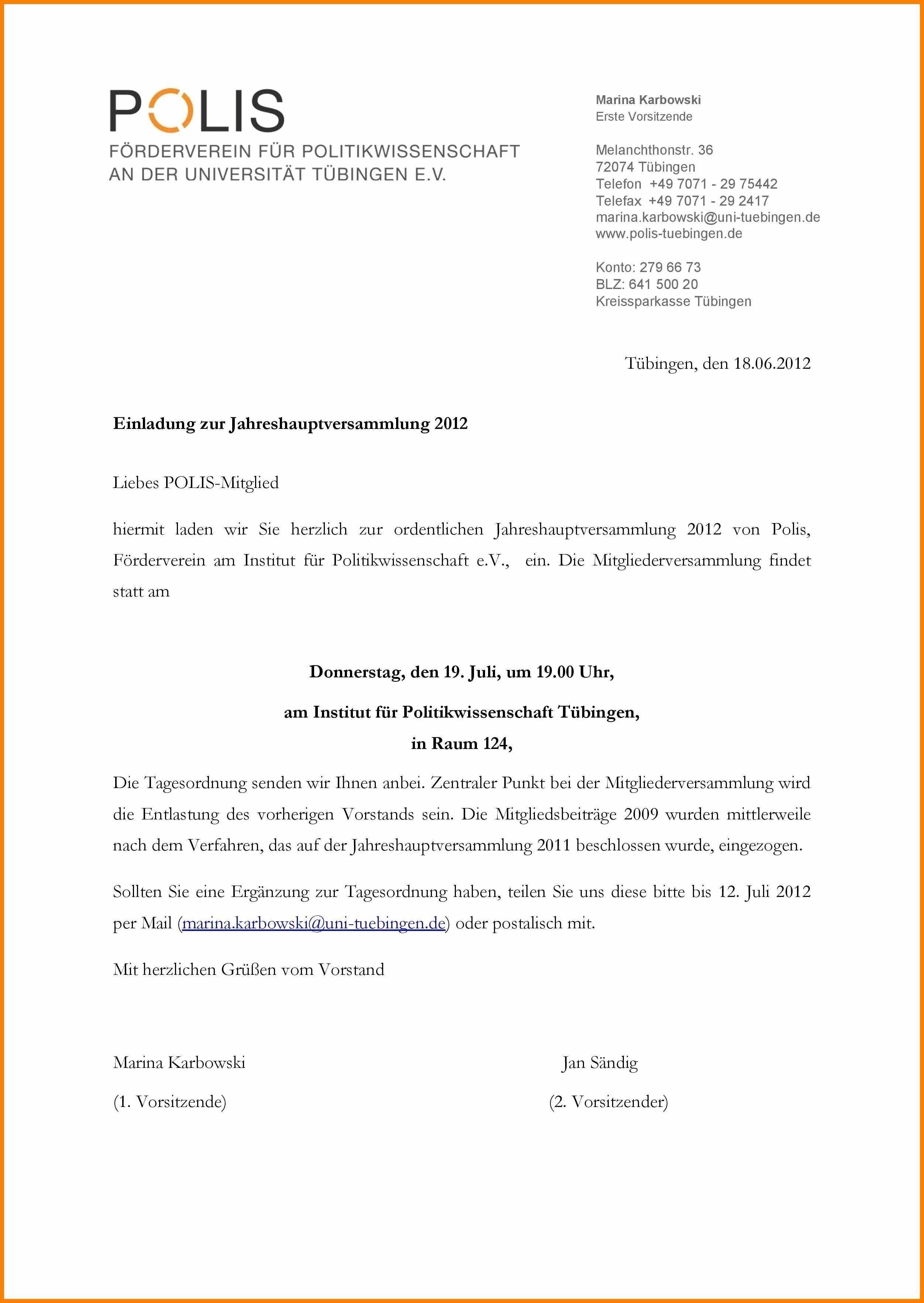Einladung Termin Vorlage