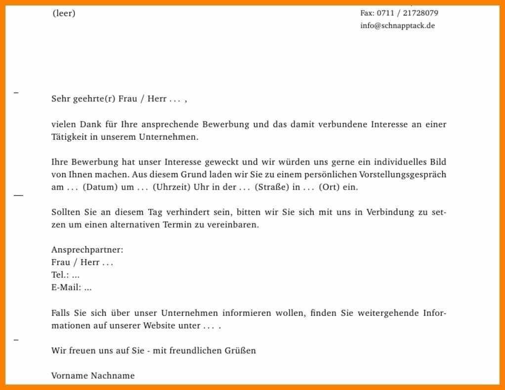 6 Dankschreiben Vorstellungsgespra Ch Email Muster Elwash In