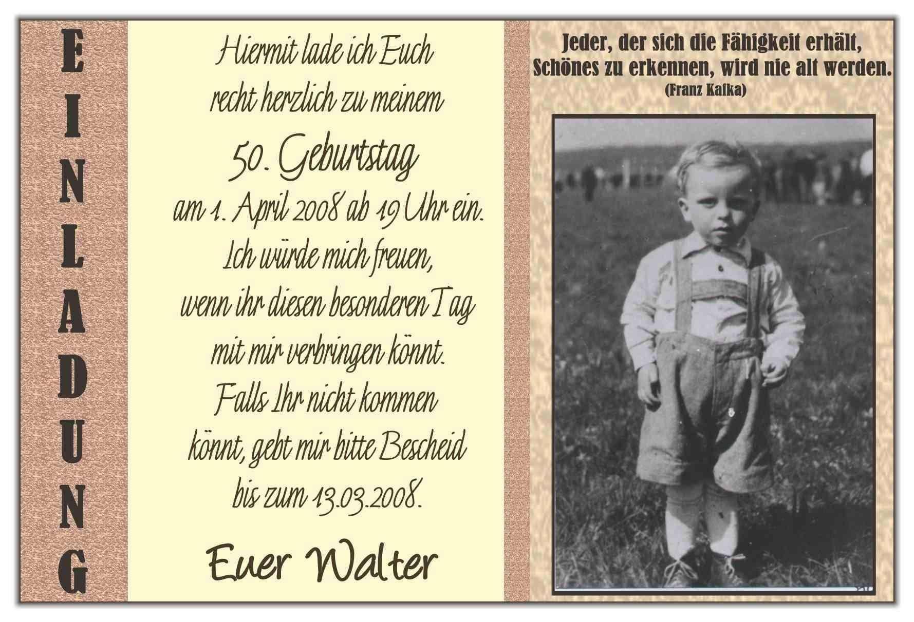 Einladung Geburtstag Einladungen Zum 50 Geburtstag Geburstag