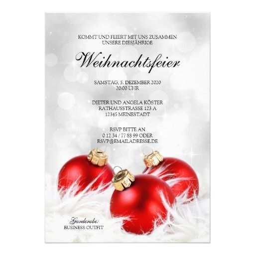 Weihnachtsfeier Und Weihnachten Einladung Vorlage Zazzle De