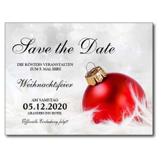 Weihnachtsfeier Einladung Save The Date Karte Zazzle De