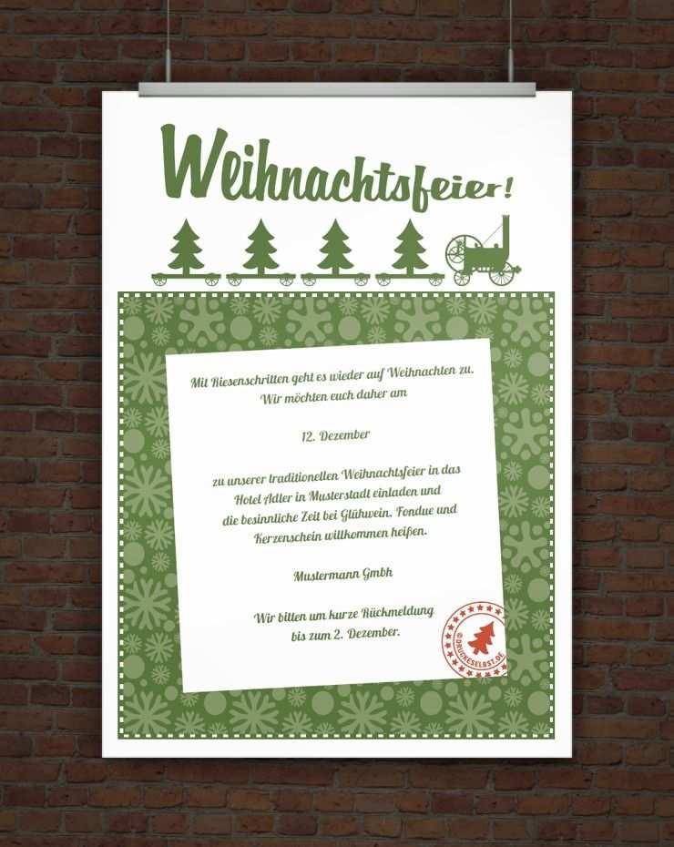 Kostenlose Einladung Zur Weihnachtsfeier Einladung