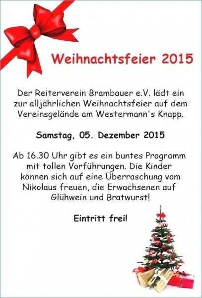 Einladung Weihnachtsfeier Vorlage Word