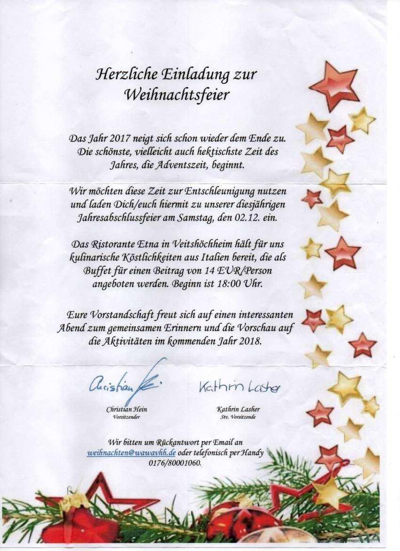 Einladung Weihnachtsfeier Vorlage Excel Einladung Zu Einer