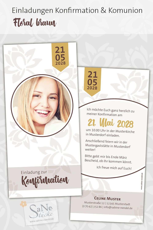 Konfirmation Blumen Mit Bildern Einladungskarten Konfirmation