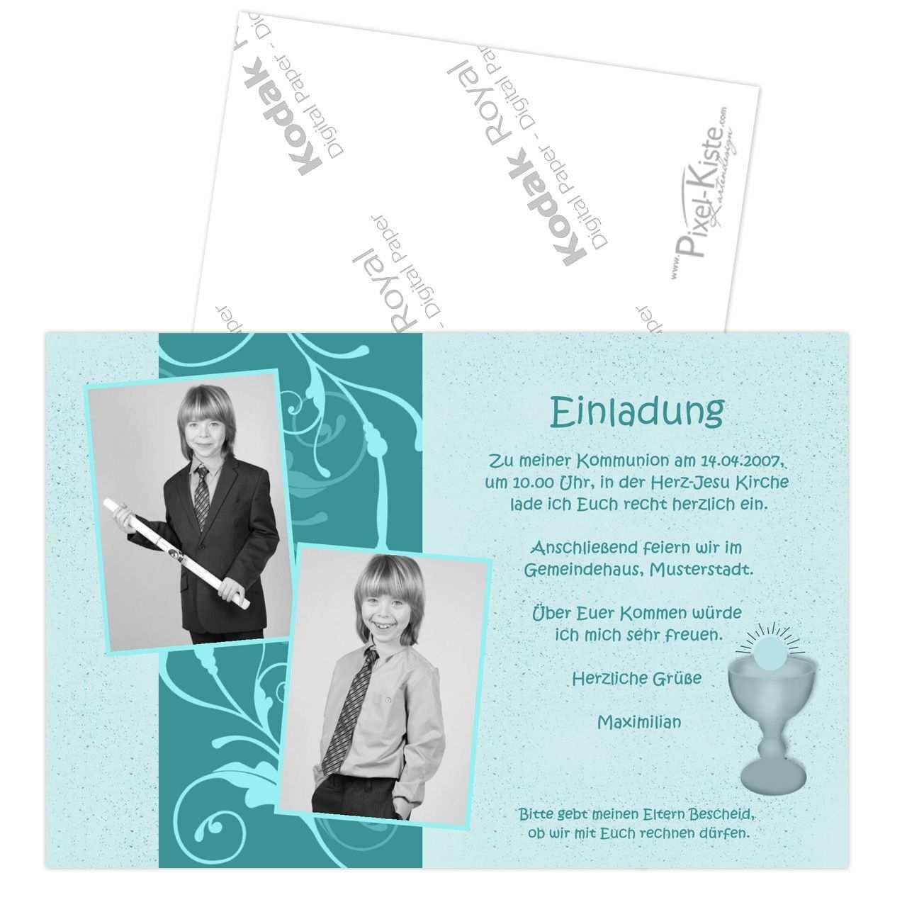 Diese Einladungskarten Zur Konfirmation Kommunion Werden Mit