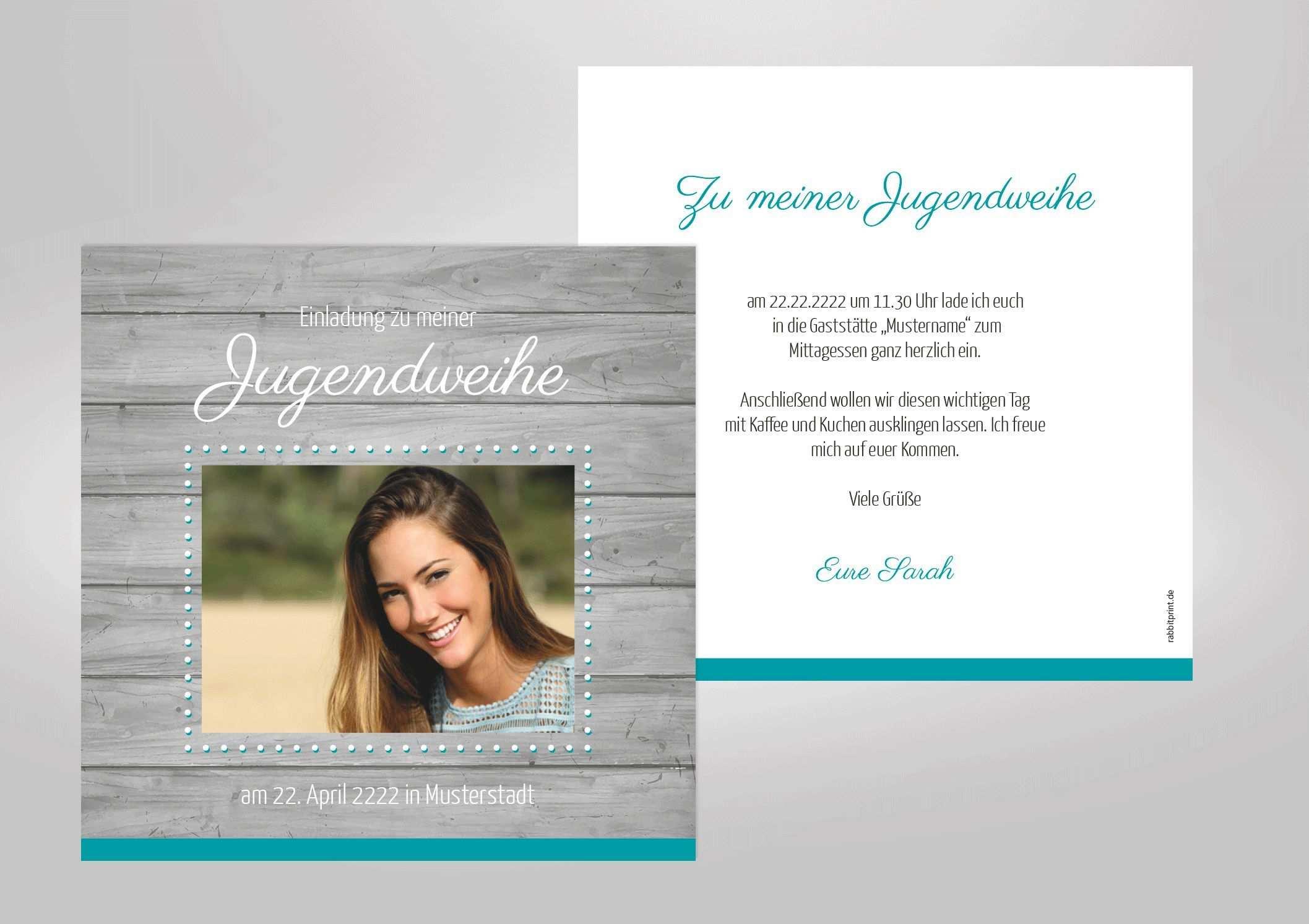 Jugendweihe Jugendweihe Einladungskarten Einladung Gestalten