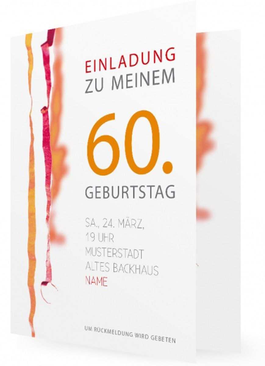 Einladungskarten Zum 60 Geburtstag Einladung 60 Geburtstag