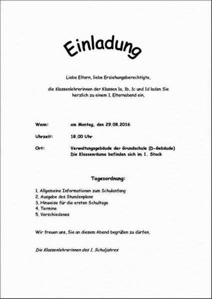 Einladungsschreiben Englisch Vorlage