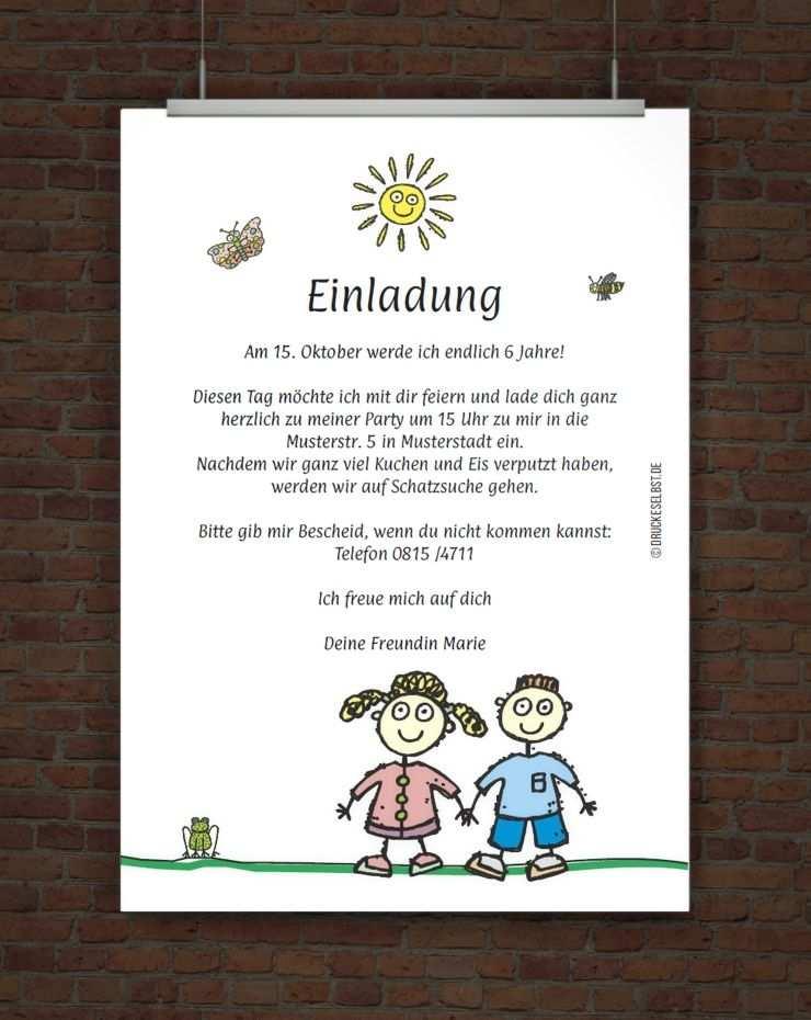 Kindergeburtstagseinladung Mit Einladungstext Einladungstext