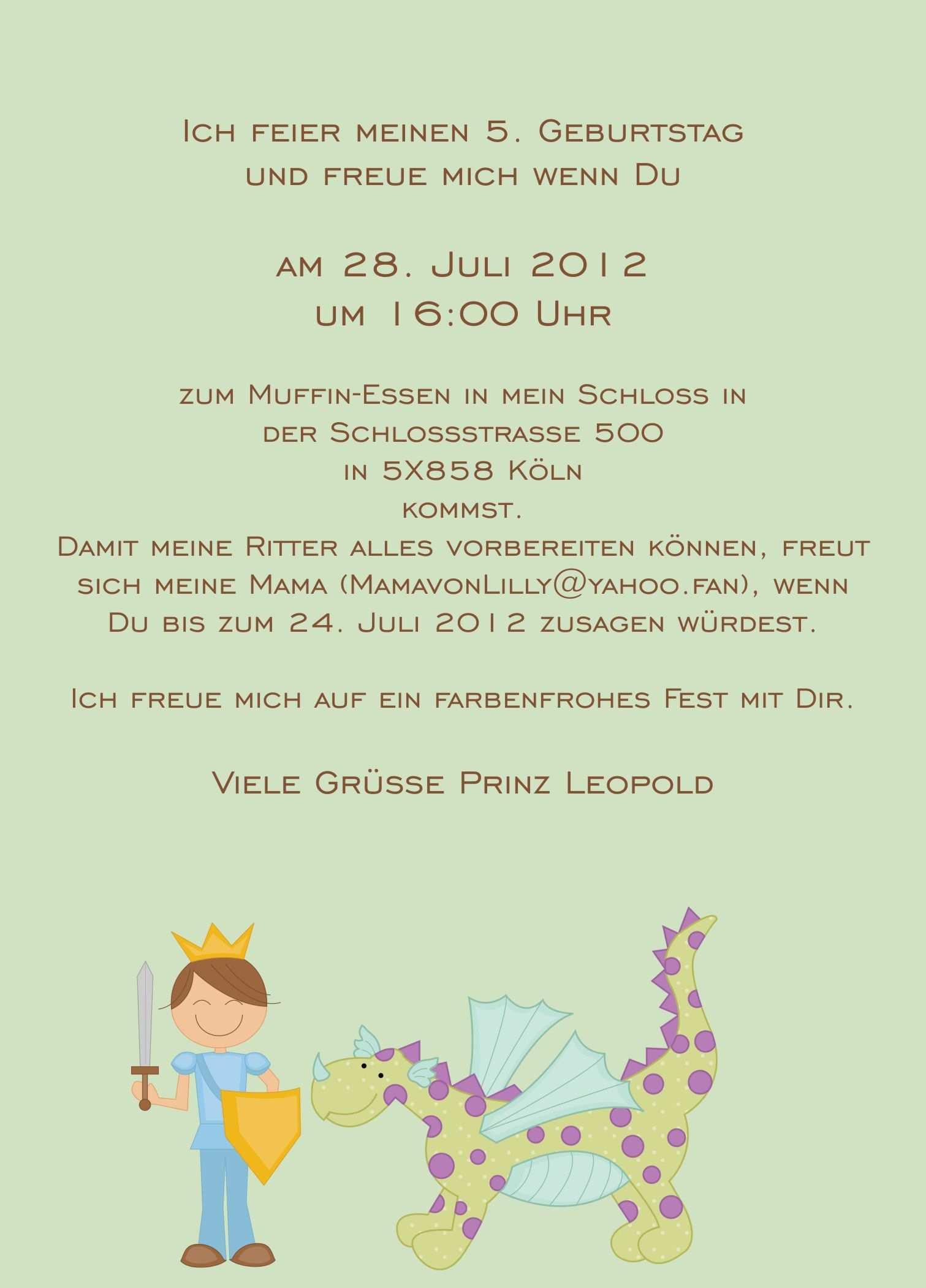 Text Einladung Kindergeburtstag Text Einladungskarten