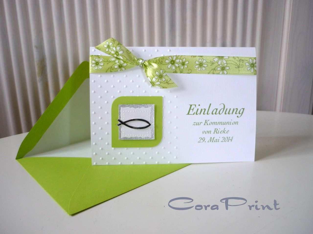 Kommunion Einladung Kommunion Einladungen Einladungskarten