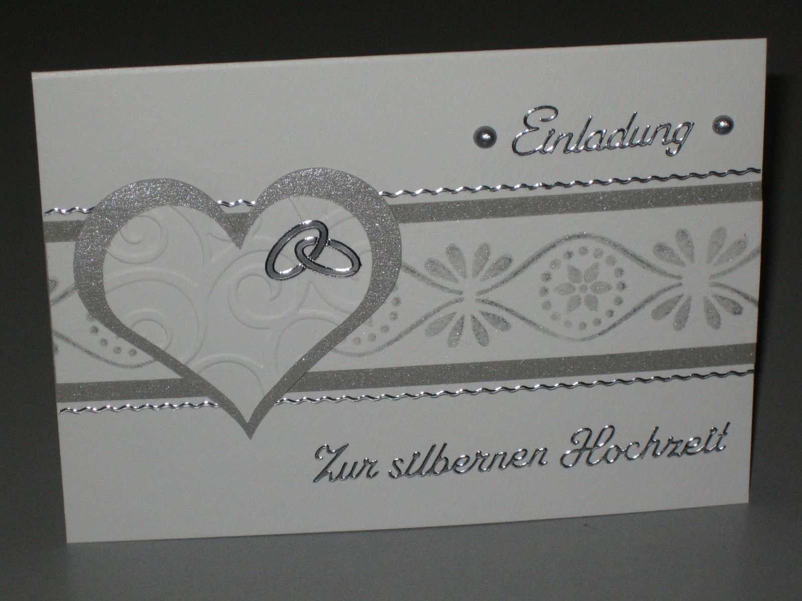 Silberhochzeit Einladung Silberhochzeit Einladungskarten
