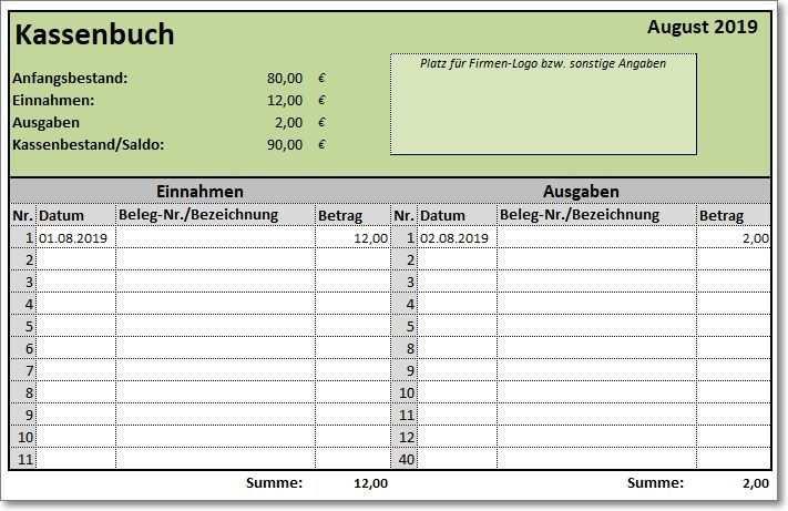 Excel Vorlage Kassenbuch Vorlage Kassenbuch Kassenbuch Excel