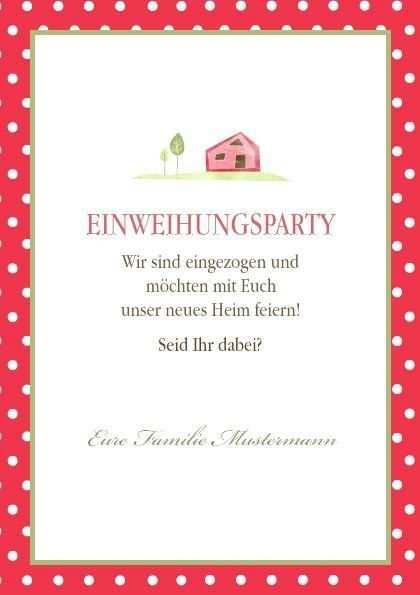 Einladung Zur Einweihungsparty Vorlage Partyeinladung