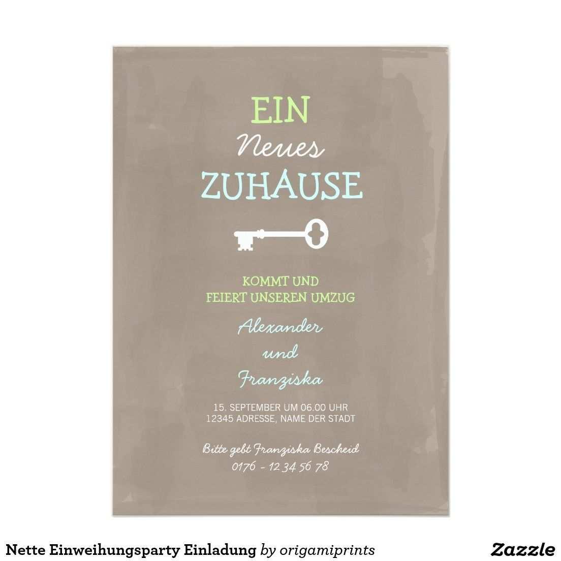 Nette Einweihungsparty Einladung Zazzle De Einweihungsparty