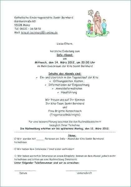 Vorlage Einladung Elternabend Kita Elternabend Elternbriefe