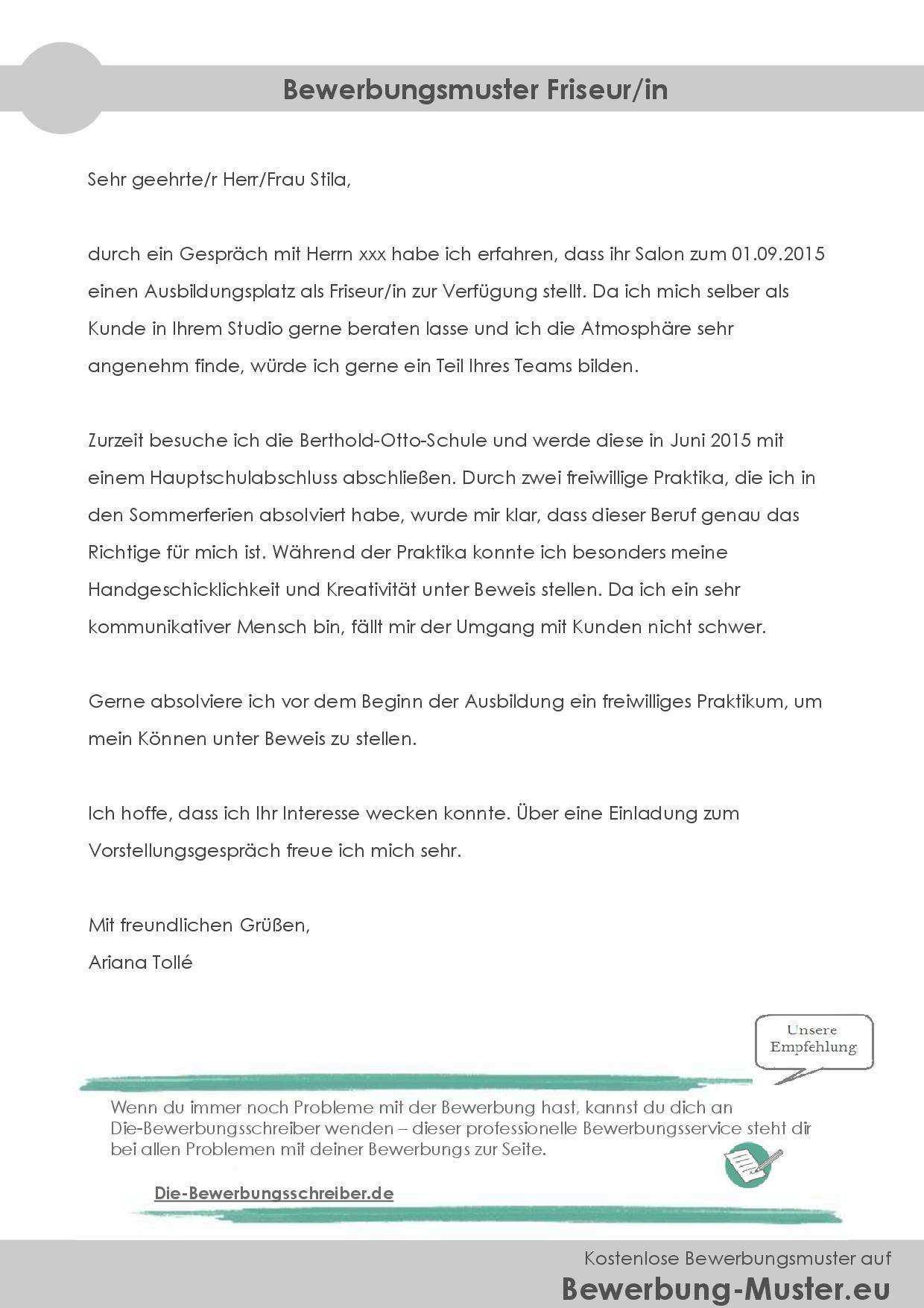 15 Bewerbung Leitungsposition Muster Aholeinafence Com