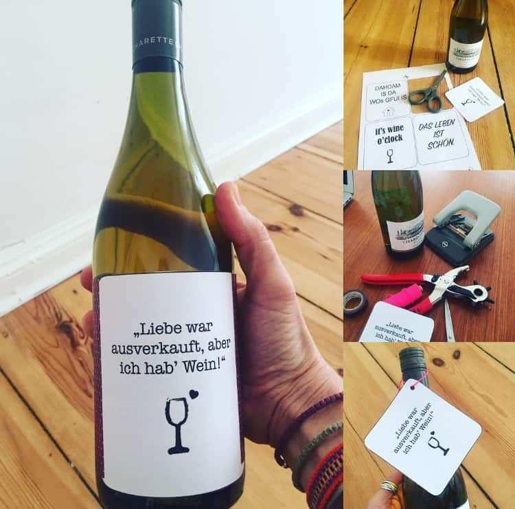 Flaschenetikett Fur Wein Und Co Kostenlose Pdf Vorlagen Online