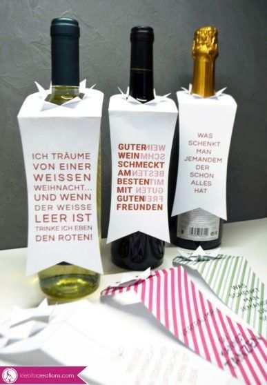 Wein Verpacken Mit Wein Etikett Geschenke Verpacken Weinflasche