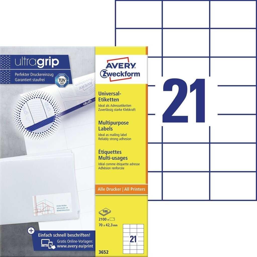 Universal Etiketten 3652 Avery Zweckform
