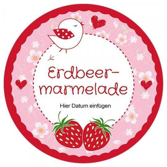 Kostenlose Vorlage Erdbeermarmelade Marmelade Geeignet Fur