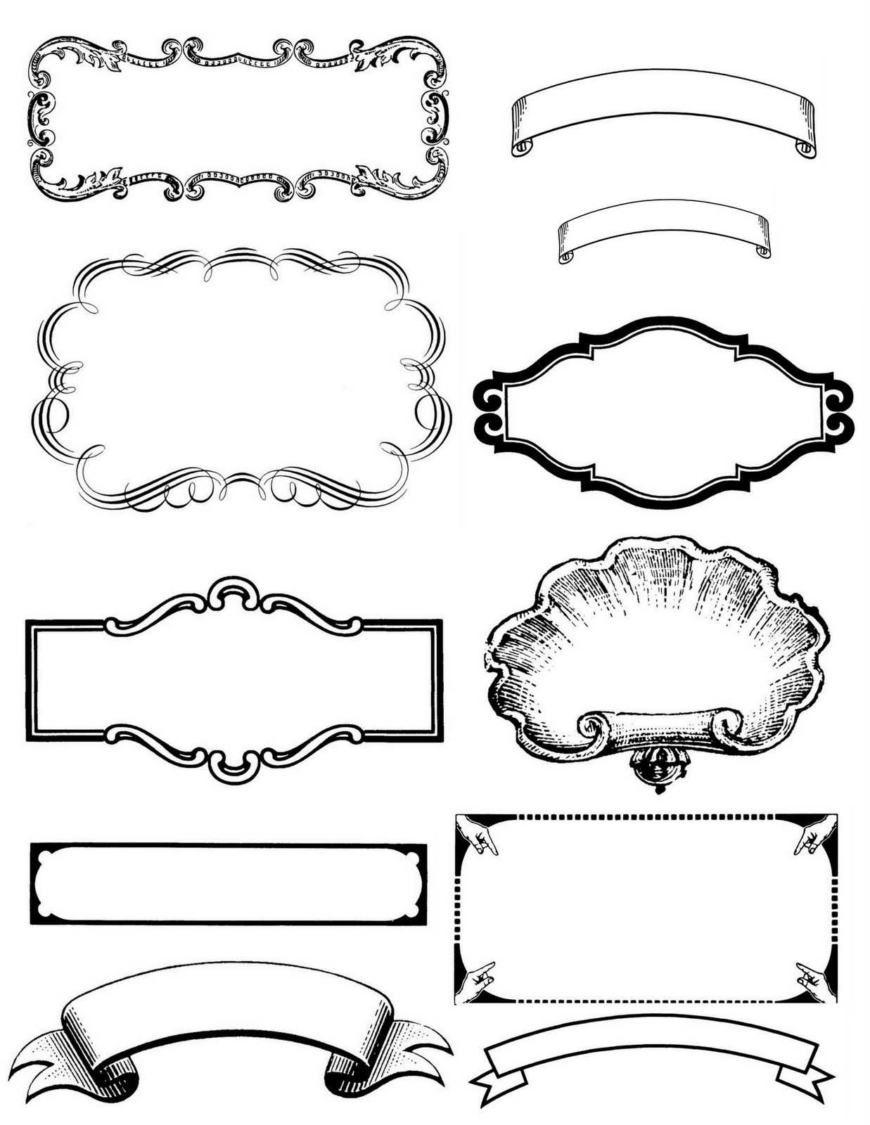 Vintage Label Borders Printable By Magic Moonlight Print These On