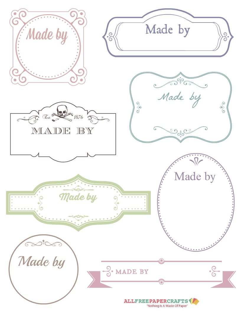 Free Printable Victorian Labels For Handmade Crafts Kostenlose