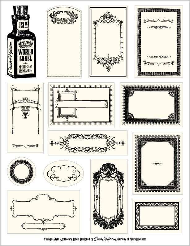 Free Apothecary Style Labels Labels Printables Etiketten